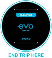 Parking in Evo reserved spot