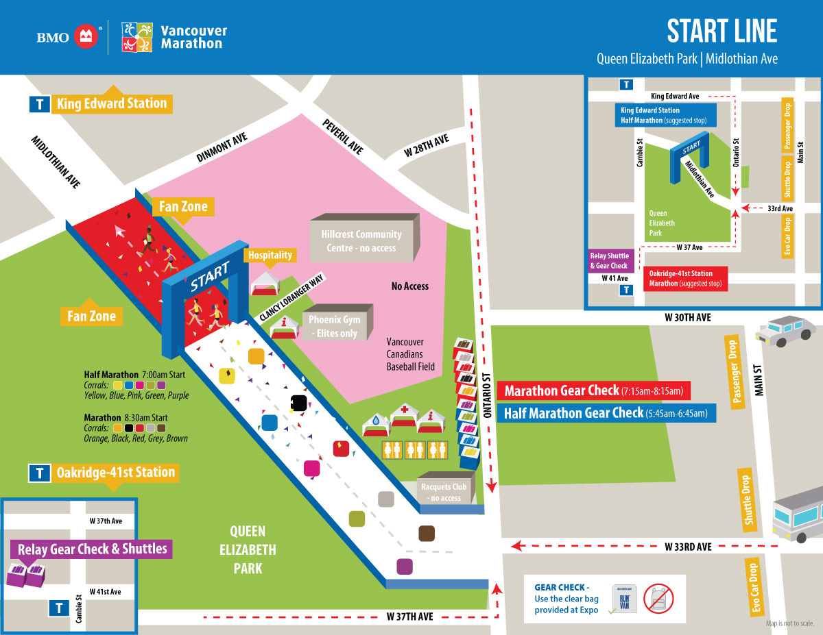 BMO Marathon 2019 map