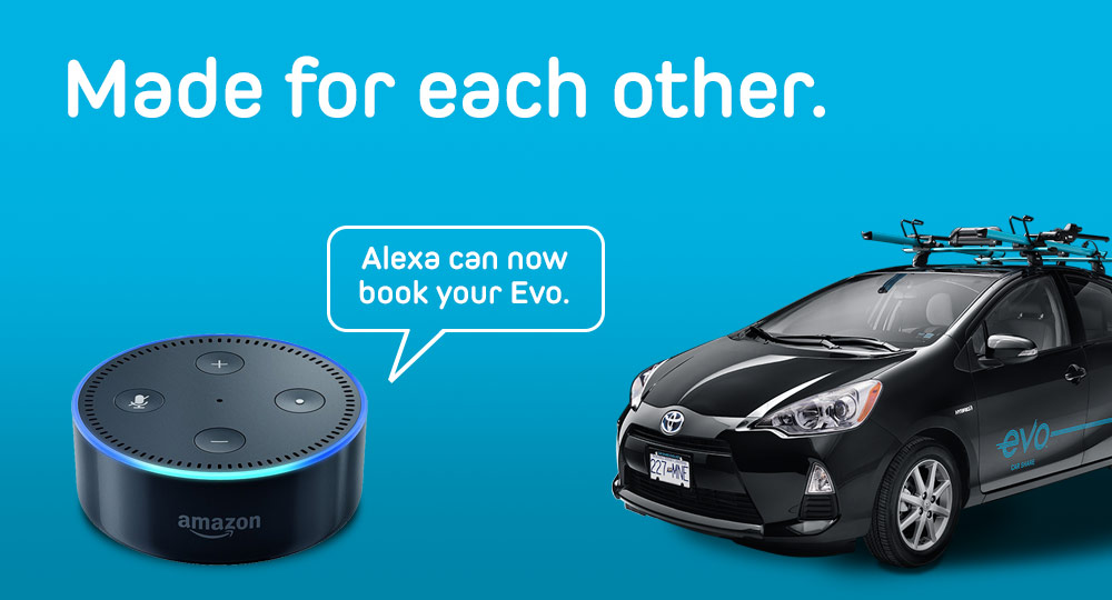 Amazon Alexa talking to  Evo