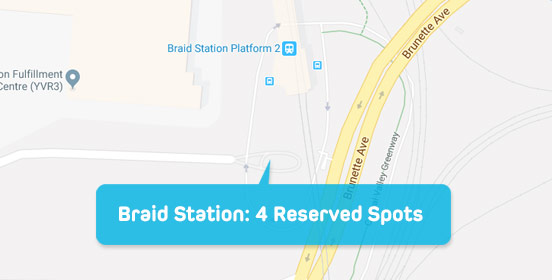 Parkspot map Braid station